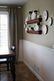 Kitchen Wainscoting Paint A Neutral Color Above White Beadboard Wainscoting In The