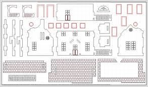 miniature dollhouse plans   New Woodworking StyleFree Doll House DXF pattern   Router Forums