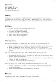 1 Convenience Store Clerk Resume Templates Try Them Now