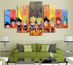 Dragon Ball Z Decorations 100 Dragon Ball Z Goku Vs FriendsHome Decor Hd Printed Modern 24
