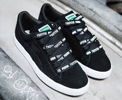 puma shoes suede black. the trapstar x puma suede black drops at end of month shoes