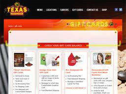 Texas Roadhouse   Gift Card Balance Check   Balance Enquiry ...