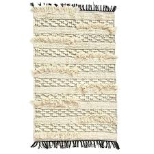 wedding woven rug a liked on featuring home rugs tan cotton stripe machine washable bathroom