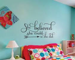 bedroom wall decor for teenagers. Girl Wall Decals Etsy Bedroom Decor For Teenagers W