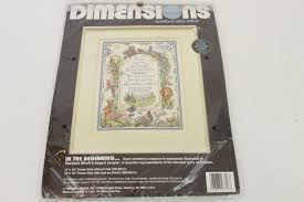 Dimensions Color Chart Dimensions Counted Cross Stitch Kit In The Beginning Barbara Mock Color Accented Chart Copyright 1992 New Unopened Cross Stitch Gift