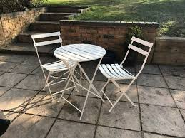 white metal table chair set stratford upon avon