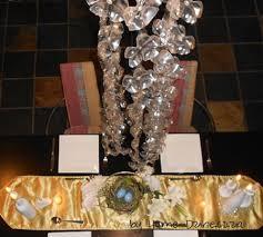 chandelier made of plastic bottles