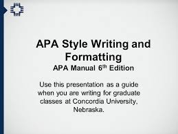 Font For Apa Format 6th Edition Apa Style Writing And Formatting Apa Manual 6th Edition