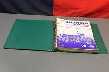honda cb motorcycle accessories 79 80 81 honda cb650 cb650c dealer service shop manual book w binder