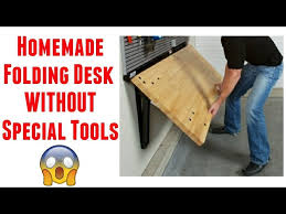 a wall mounted folding desk diy table