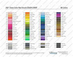 Clean Color Real Brush Color Chart Download Cleaning