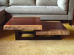coffee table marvellous brown square modern custom wood and iron tiered coffee table stained design