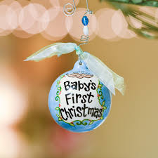 GLORY HAUS INC 2050101 Blue Baby's First Christmas Birds in Nest ...