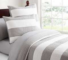 comforter big quilt sets gray white striped quilt in square big pillows also square thin blanket than