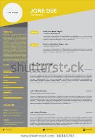 Biodata Resume Resume Cv Biodata Service Job Portfolio Stock Vector
