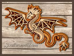 Free Scroll Saw Patterns Interesting Scroll Saw Patterns Mythical Dragons Multilayered Dragon