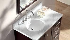offset bathroom countertop tile without materials diy measurements sinks for top storage vanities double sink