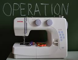 Operating A Sewing Machine