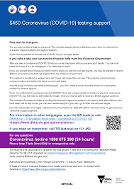 You can also call the victorian hotline on 1800 675 398 for more information. Https Www Dhhs Vic Gov Au 450 Coronavirus Test Isolation Payment English Covid 19 Pdf