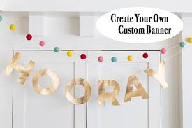 Gold Custom Letter Banner Kit Party Banner Personalized Birthday