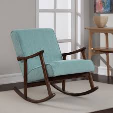 retro wood furniture. aqua fabric retro wooden rocker chair overstock shopping great deals on living room wood furniture e