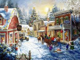 christmas town wallpaper. Modren Wallpaper Christmas Village And Town Wallpaper L
