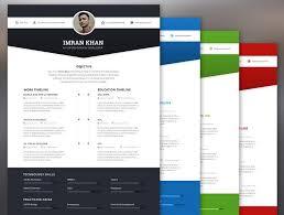 Modern Resume Color Free 4 Color Modern Resume Template Psd Titanui