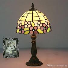 colored glass lamps 8 inch vintage flowers shade table lamp home decor stained glass table lights