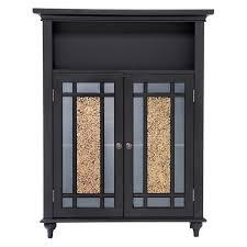 elegant home windsor espresso bathroom double door floor cabinet throughout bathroom cabinet with glass doors