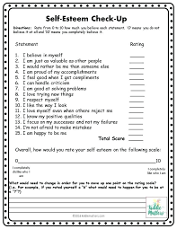 self esteem worksheets for teens – streamclean.info