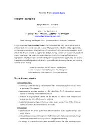 Archaiccomely Sample Cfo Resumes Senior Sales Executive Example