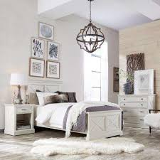Seaside Lodge 5 Piece Hand Rubbed White Twin Bedroom Set