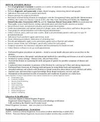 Dental Hygienist Certification Printable Dental Hygienist Resume ...