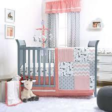 The Peanut Shell Uptown Girl 3pc Crib Bedding Set