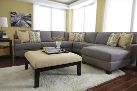 Furniture: Classic And Traditional Style Velvet Sectional Sofa For  regarding Sectional Sofa With Oversized Ottoman