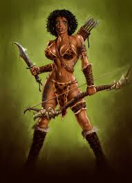 amazon warrior art. Wonderful Art Sexy African Female Warriors  The Amazon Women Prayed To The Goddess  Artemis And Warrior Art N