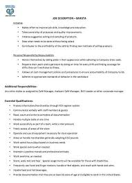 Resume Job Description Gorgeous Pin By Job Resume On Job Resume Samples Pinterest Barista Job