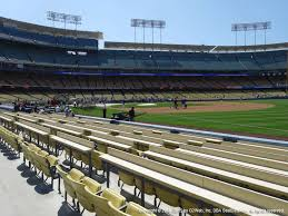 Dodger Stadium View From Baseline Club 34 Vivid Seats