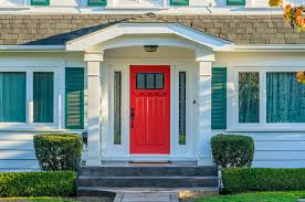 white front door yellow house. White House With Red Front Door Yellow