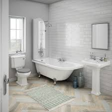 traditional bathroom tile ideas. Appleby Traditional Bathroom Suite With Westbury Gloss Metro Tiles | 7 Ideas Tile