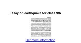 essay on earthquake for class th google docs