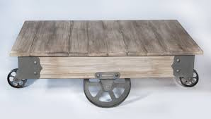 table on wheels. vintage center coffee table with wheels on h