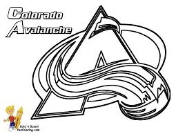 08 Colorado Avalanche Hockey At Coloring Pages Book For Kids Boys