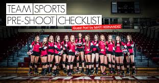 Team Sports Pre Shoot Checklist Blog Millers