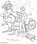 Картинка раскраска замок снежной королевы