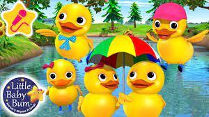 Nhạc thiếu nhi Five little ducks cho bé ăn ngon - YouTube