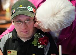 bay county resident down syndrome d mcdonald s michigan paul clark received mcdonald s crew person of the year award