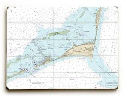Nc Cape Hatteras Hatteras Inlet Nc Nautical Chart Sign
