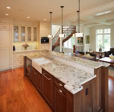 Kitchen Chair Rail Valley White Granite Kitchen Traditional With Recessed Lighting