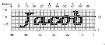 17 Meticulous Filet Crochet Letter Patterns